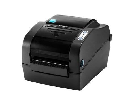 SLP-TX420 - Etikettendrucker, thermotransfer, 203dpi, USB + RS232 + Ethernet, Peeler, dunkelgrau