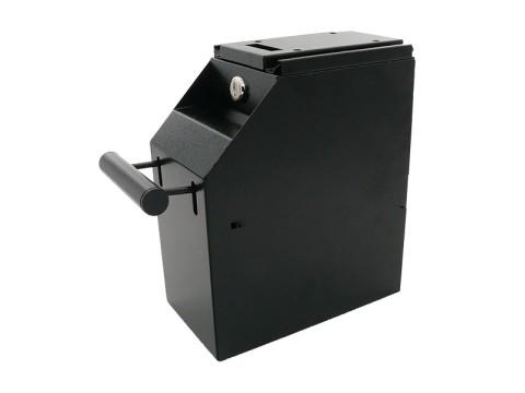 AC-S102 - Metall-Sicherheitsbox für Geldscheine, Untertischmontage, zweifach abschließbar, schwarz