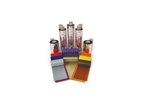 Farbband - Wachs/Harz Premium wischfeste Qualität, 300m x 84mm, gelb, 1 Zoll-Kern, Außenwicklung
