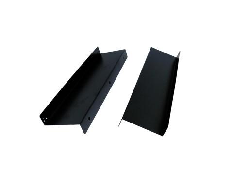 Unterbauvorrichtung / Untertischhalterung / Metall-Unterbauwinkel, schwarz (2Stk li+re) für Kassenlade HS360, HS410, C3540, HS330 (4.5cm tiefer)