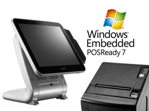 Aktionsartikel: AnyShop Prime Touchsystem weiß + AP-8220 Thermo-Bondrucker + Microsoft PosReady 7 32bit
