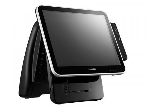 "Imprex Prime J1900 - Lüfterloses Touchsystem mit 80mm Bondrucker, Celeron J1900 Quad Core und kapazitivem 17"" (43.1cm) Touchscreen, schwarz"