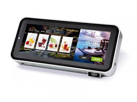 Pandora - Mini-Kiosk-System J1900 CPU, kapazitiver Touch, Bluetooth, WiFi, 4GB RAM, 64GB SSD, Lautsprecher, 2D-Barcodeleser, NFC, Kamera