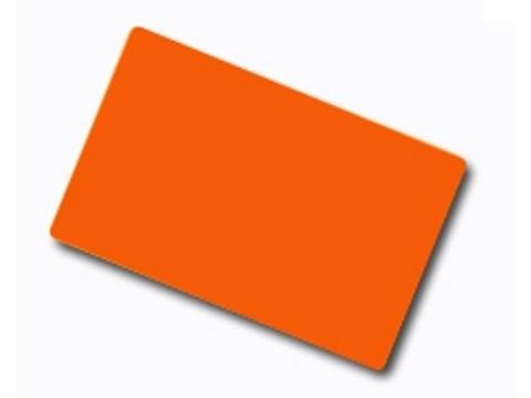 Plastikkarte - 30mil, 0.76mm (blanko) - orange