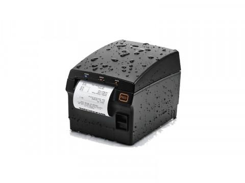 SRP-F310II - Thermo-Bondrucker mit Front-Ausgabe, USB + Ethernet + WLAN, dunkelgrau