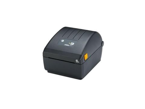 ZD220 - Etikettendrucker, thermodirekt, 203dpi, USB, Etikettenspender, schwarz