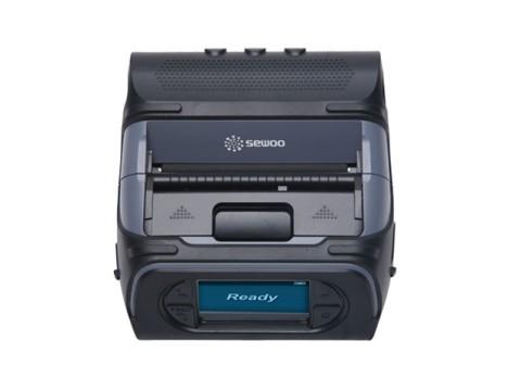 LK-P43II - Mobiler Thermo-Bon-/Etikettendrucker, 112mm Papierbreite, USB + RS232 + WLAN (b/g/n), Etikettenspender