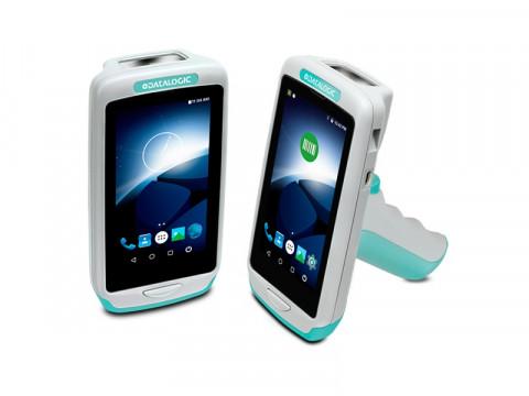 Joya Touch A6 HC Pistolengriff - Mobiler Computer mit weißem 2D-Imager, Android 6, weiß-grün