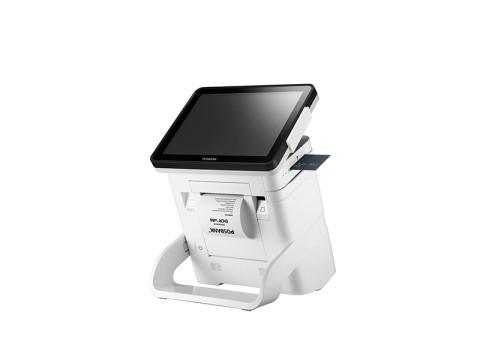 """DCR - Lüfterloses Touchsystem mit kapazitivem 9.7"""" (24.6cm) Touchscreen und Bondrucker, weiß"""