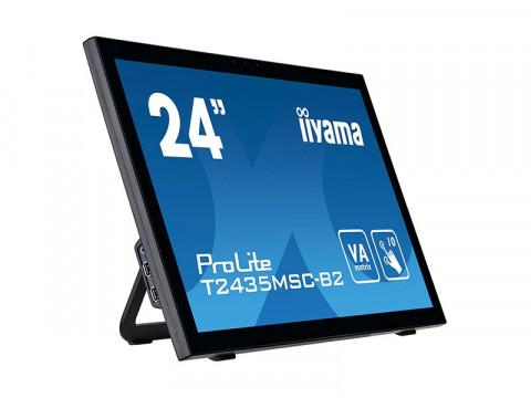 "ProLite T2435MSC-B2 - 23.6"" Touchmonitor, kapazitiv, 10 Punkte Multitouch, USB, Full HD, Webcam, schwarz"