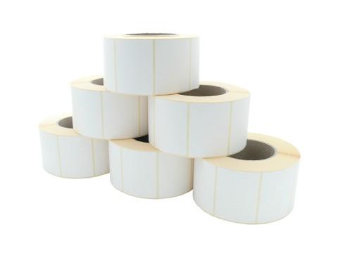 Etikettenrolle - Thermodirekt 70 x 52mm, D147mm, Kern 76, 1500 Etiketten/Rolle, permanent