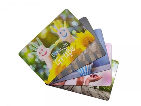 Plastikkarte bedruckt, Bogenoffset 4/4 CMYK farbig bedruckt - 30mil, 0.76mm, ++Abgabe nur als VPE 250er Pack++