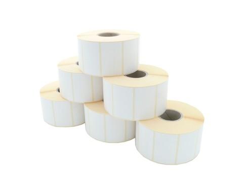 Etikettenrolle - Thermodirekt, 60 x 36mm, D127mm, Kern 40, 2000 Etiketten/Rolle, permanent, aussen gewickelt