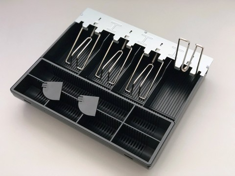 Einsatz für AC-3330 Kassenlade mit individuell anpassbarem Münzeinsatz und 4 Scheinfächern