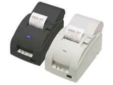 TM-U220B - Bon-Nadeldrucker, Ethernet, weiss, mit Abschneider