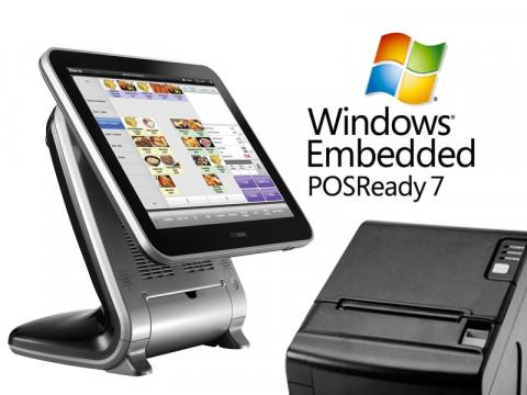 Aktionsartikel: AnyShop Prime Touchsystem schwarz + AP-8220 Thermo-Bondrucker + Microsoft PosReady 7 32bit