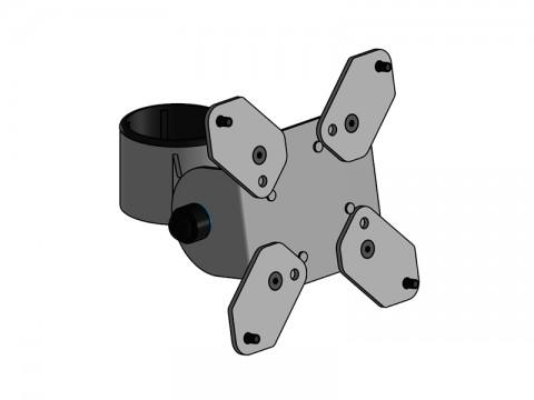 SpacePole Basis - VESA 75/100 Halterung, schwarz