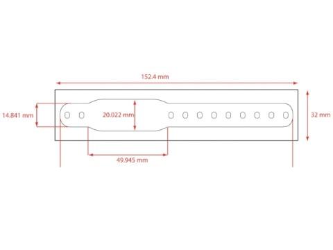 Infasafe-LCB - Kleinkinder Clip Schnellverschluß Armbänder in weiß