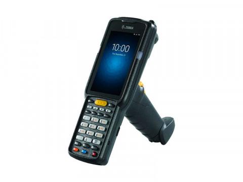 MC3300 Premium Gun - Mobiler Computer, Android 8.0 mit GMS, 2D-Imager Long Range, 47 alphanumerische Tasten