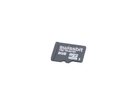 TSE-Swissbit - Micro SD Karte mit USB-A Kartenleser , Laufzeit 5 Jahre