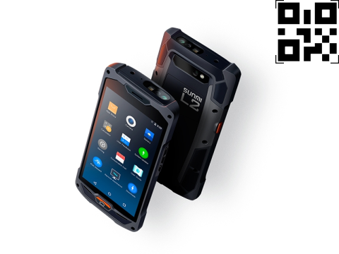 """L2 - Mobiles Industrie-Barcode-Touchterminal, 5"""" Display, Android 7.1, 2GB/16GB, 2D-Barcodescanner"""