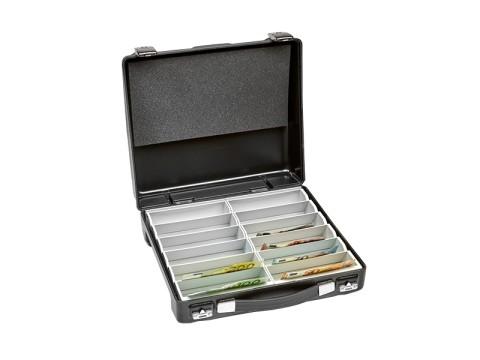 Geldtransportkoffer - REKORD 12 PK mit 12 Banknotenfächern