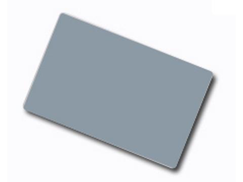 Plastikkarte - 30mil, 0.76mm mit unprogrammiertem Lo-Co Magnetstreifen (blanko), Silber beidseitig