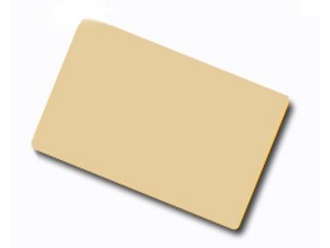 Plastikkarte - 30mil, 0.76mm (blanko) - braun