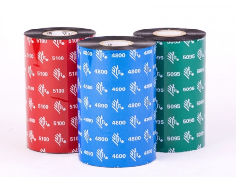 2300 wax - Farbband European Wachs, 74m x 56,9mm, 1/2 Zoll Kern, außen beschichtet