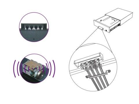 SU41 - Unterbau-Kassenlade mit Sicherheitsalarmverschluss, 5 Flachfächer für Banknoten, Zählbretteinsatz Minicoin Compact EU 80,