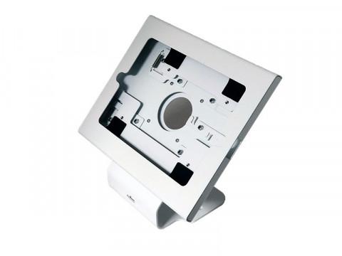 Tablet Stand - Universal-Halterung, Metall, gebogen, reinweiß RAL9003