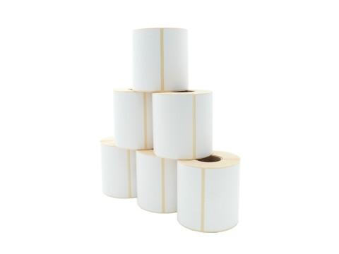 Etikettenrolle - Thermodirekt, 101,6 x 101,6mm, D110mm, Kern 40, 480 Etiketten/Rolle, permanent