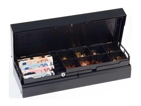 Universal UCC - Geldkassette ohne Schloss, 24V, Einsatz mit Schliessung 102, 8 Münzbecher, anthrazit