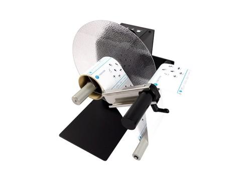 UNI-CAT-Standard - Externer Etiketten-Ab-/-Aufwickler, Kern 76mm, Rollendurchmesser 300mm, Etikettenbreite 155mm