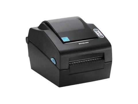 SLP-DX423 - Etikettendrucker, thermodirekt, 300dpi, USB + RS232 + Parallel, Abschneider, dunkelgrau