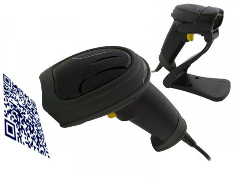 AS-1320 - 2D-Barcodescanner mit USB-Anschluss und Standfuss, schwarz