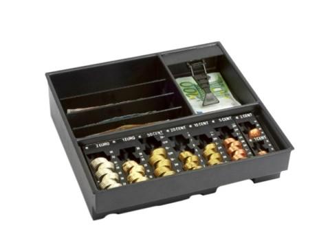 Minikord 7810 RE Kasseneinsatz - 7 herausnehmbaren Einzelmünzbehältern, 4 Banknoten-Steilfächern, 1 Banknotenfach mit Banknotensicherungen