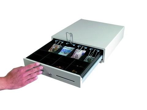 HS360A-B One Touch Standard - **Manuelle Öffnung** Metall-Kassenlade - 8C/4B - hellgrau