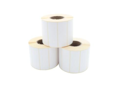 Etikettenrolle - Thermotransfer, 70 x 25mm, D93mm, Kern 40, 1500 Etiketten/Rolle, permanent