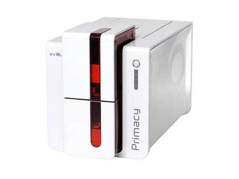 Primacy - Doppelseitiger Farb-Kartendrucker mit USB und Ethernetanschluss, rot