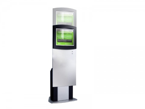 """IT-610-22 - Kiosk-Informations-System (variable Höhe) mit kapazitiviem 22"""" Touchmonitor, ohne PC"""