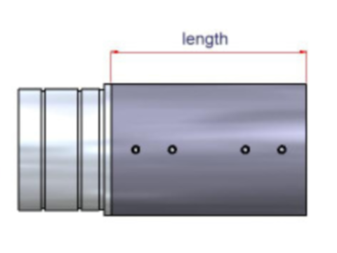 Verlängerung - Länge ca. 80mm, Rohrdurchmesser ca. 54mm, ohne Ausschnitt für Flexi Stand