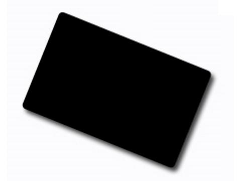 PVC-Karte mit Lebensmittelzertifizierung - 86 x 54 x 0.76mm, schwarz matt durchgefärbt