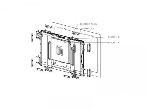 Flushmount Kit für 3243L