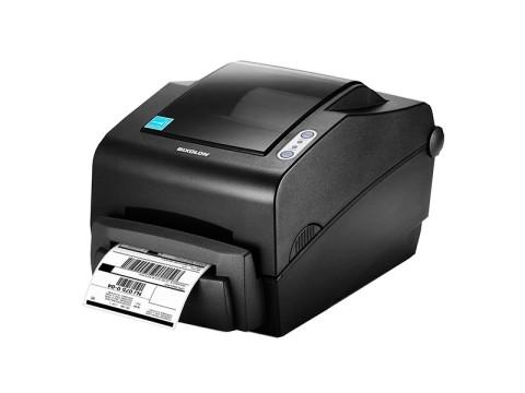 SLP-TX403 - Etikettendrucker, thermotransfer, 300dpi, USB + RS232 + Parallel, dunkelgrau
