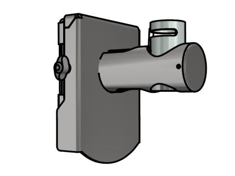 Wandhalterung - für beliebige 40er Applikationen, mit Trägerplatte, Länge ca. 120mm