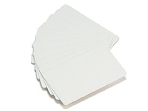 Plastikkarte - 50mil, 1.25mm (blanko) - weiß ++Abgabe nur als VPE 100ter Pack++