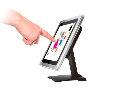 "TM1600-20TU - 9.7"" Aluminium Touchmonitor mit True Flat Display, **kapazitivem Industrie Touchscreen und USB-Hub**"