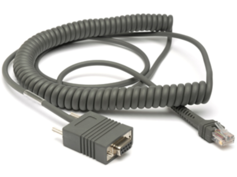 RS232-Kabel - 3.6m, DB9, female, TXD-2, spiral für LI2208, LS3408, DS4308, DS9808, DS9908, DS9908R