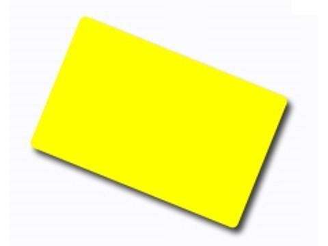 Plastikkarte - 30mil, 0.76mm (blanko) - gelb